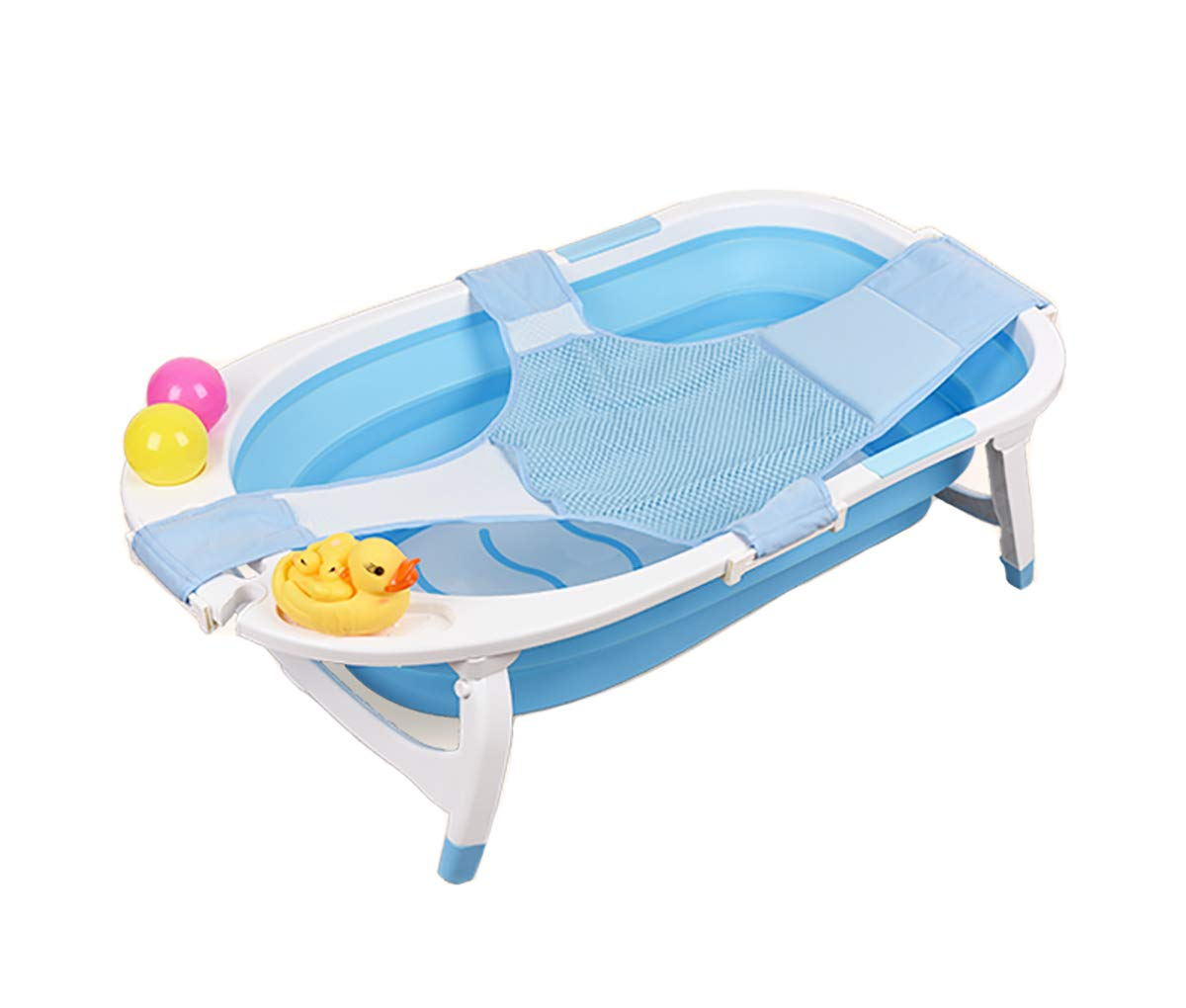 Foldable Bath Tub for Baby, Newborn, Infant   Portable Collapsible Shower Basin, Toddler Tub with Sling 32 X 19.5 X 9 inch by CreFutre