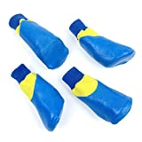 Alfie Pet by Petoga Couture - Terry Set of 4 Rubber Dipped Dog Paw Protection Socks - Color: Blue, Size: XXL