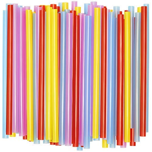 (Wide Straws for Drinking & Smoothies [100 Pack] Assorted Colors)