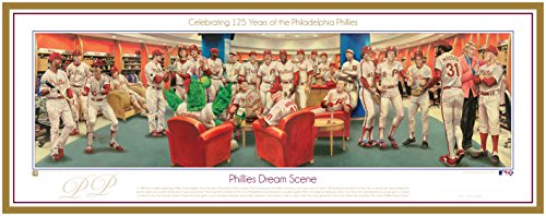 Phillies Baseball Dream Scene Lithograph Panorama Photo - By Artist Jamie Cooper