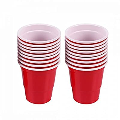 2oz Mini Red Solo Cups – 150 Count – Disposable Tiny Shot Glasses & Party Shooters – Great for Alcohol Tasting, Tailgates, Jager Bombs, Roulette, Wine, Beer, Liquor – Party Supplies