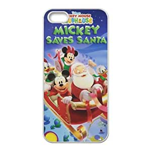 Mickey's Twice Upon a Christmas iPhone 5 5s Cell Phone Case White UI8293500