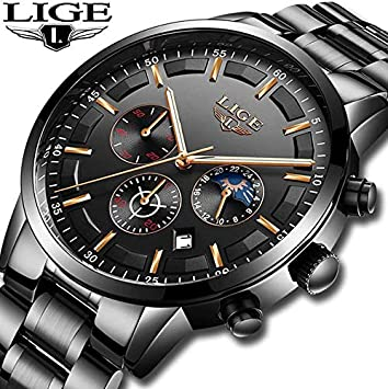 Amazon.com: Relojes 2018 Watch Men LIGE Fashion Sport Quartz Clock Mens Watches Top Brand Luxury Business Waterproof Watch Relogio Masculino: Kitchen & ...