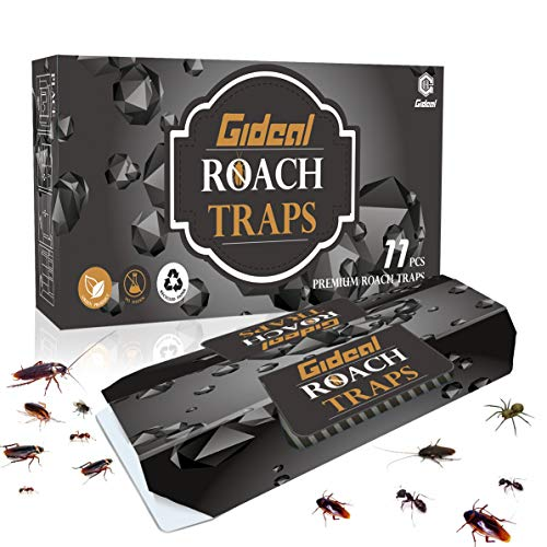 Gideal 11 Pack Cockroach Traps with Bait, Sticky Paper Premium Glue Trap | Eco-Friendly | Spiders Ants Roach Killer ()