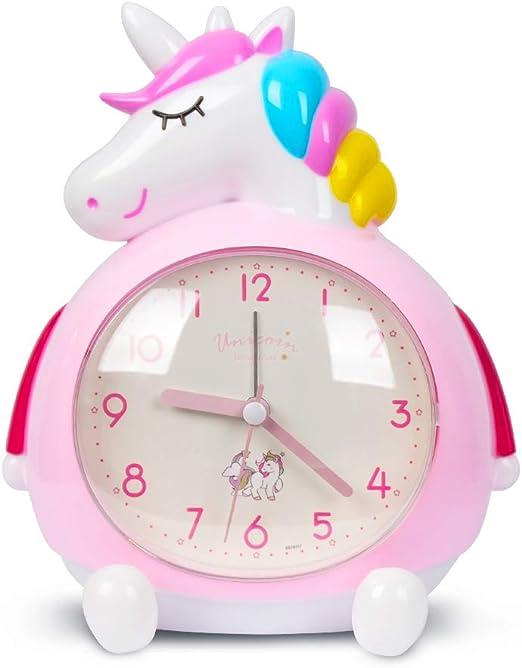 Minvo - Despertador infantil con diseño de unicornio y música ...