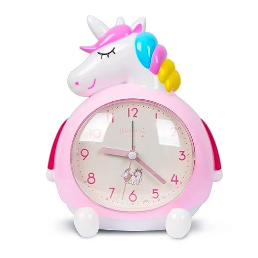 Minvo - Despertador infantil con diseño de unicornio y ...