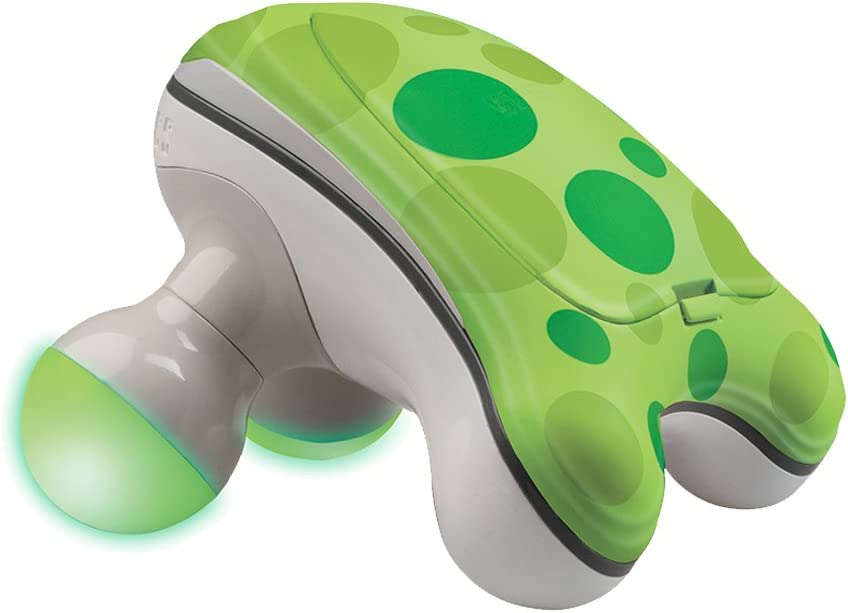 HoMedicsRibbit Handheld Mini Massager | Vibration Massage, Illuminated Feet, Battery Operated, Assorted Colors | Lightweight, Muscle Kneading for Back, Shoulders, Feet, Legs, & Neck
