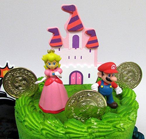 Fabulous Mario Brothers 23 Piece Birthday Cake Topper Set Featuring Mario Funny Birthday Cards Online Amentibdeldamsfinfo