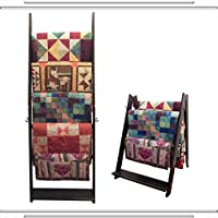 The LadderRack 2-in-1 Quilt Display Rack (5 Rung/30 Model/Weathered Black)