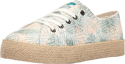 Rocket Dog Womens Madox Canvas Cotton/Rainbow Road Webbing Fashion Sneaker Green Jungle Palm 7AQCL5Y