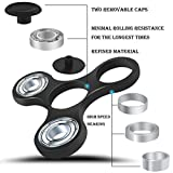 GongFu Star Fidget Spinner Toy Time Killer Perfect to relieve ADHD Anxiety Reduce Stress Helps Focus (White)