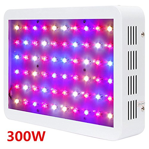 300W Led Grow Light Tent Kit Full Spectrum Led Grow Light 3W LED/5WLED/6W LED Led Grow Lamp Hydroponic Systems Best for Medicinal Plants Growth Flowering (300W-3W Led) Yahe