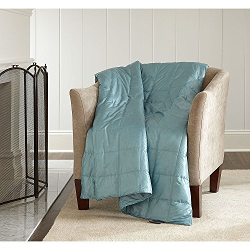 Eddie Bauer Packable Down Throw (Cameo Blue)