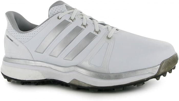 adidas Adipower Boost 2 - Zapatos de Golf para Hombre, Color Blanco/Negro/Plata, Talla 43.3 (W): Amazon.es: Zapatos y complementos