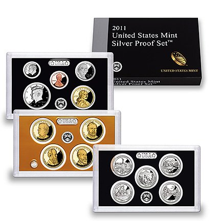 2011 United States Mint Silver Proof Set by Proof Set