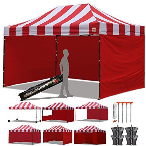 ABCCANOPY Carnival Red 10 X 15 Ez Pop up Canopy Tent Commerc