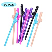 Bride Straw Bachelorette Party Supplies Super Sipping Drinking Straws for Bride,Best Bridal Shower Gift for party Night,Bachelorette Party Decoration (30 PCS)
