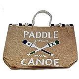 Mud Pie Lake Rope Totes Paddle & Canoe