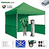 Eurmax Premium 10x10 Pop up Canopy Event Canopy Market Stall Canopy Booth Portable Exhibition Booth Trade Show Display Outdoor Canopy Bonus: Four (4) Weight Bags +Roller Bag (Kelly Green)
