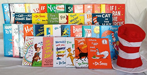 The Essential Dr. Seuss Collection [40 Book Set, Includes The Cat in the Hat Felt Hat!]