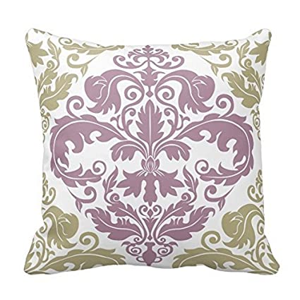 Amazon Sage Green And Plum Purple Pattern Pillow Home Stunning Purple And Green Decorative Pillows
