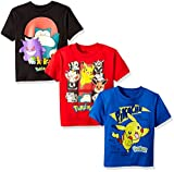 Pokemon Boys 3 Pack Tee Bundle