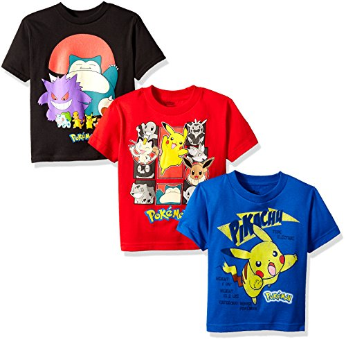Pokemon Boys' 3 Pack Tee Bundle Photo