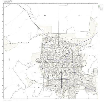 Amazon.com: Las Vegas, NV ZIP Code Map Not Laminated: Home & Kitchen