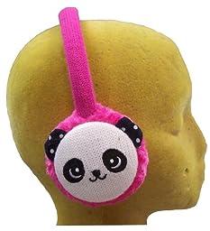 N'Ice Caps Girls Teddy Bear Faced Faux Fur Adjustable Ear Muff