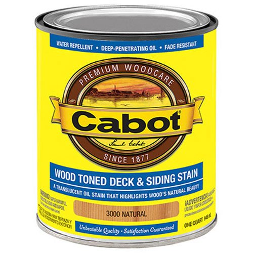 CABOT SAMUEL 3000-05 INC QT, Natural, Wood, Dark Toned Deck & Siding Stain, Specially Formulated With A Unique Blend Of Resin & Oil To Provide A Superior, Water Repellent 1