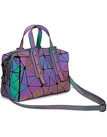 b5ae72f41a7 Harlermoon Geometric handbag Luminous women bag Holographich Purses Flash  Reflactive purse and handbag Tote for Women