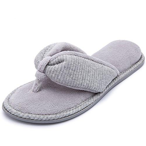Pictures of RockDove Ladies' Memory Foam Flip Flop Slippers 1