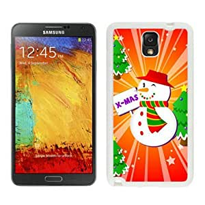 Featured Desin Christmas Snowman White Samsung Galaxy Note 3 Case 9