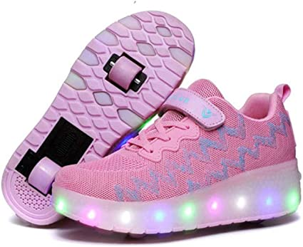 Kinder Schuhe mit Rädern Roller Schuhe Jungen Mädchen LED