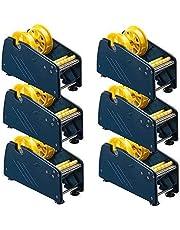 Te-Office 6 Piezas Plástico Dispensador Etiquetas Portarrollos Etiquetas Adhesivas Dispositivo de Mesa Ventosas Manual 75mm Rollenbreite Azul
