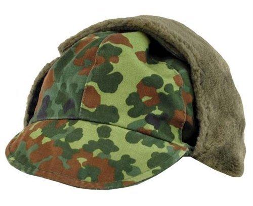 German Army (Bundeswehr) Winter Cap - FLECKTARN CAMO (GER: 62 US: 7 3/4) (German Camouflage Uniforms)