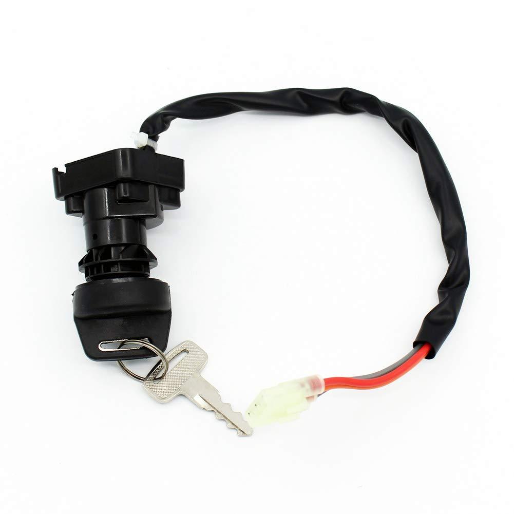 QAZAKY Ignition Key Switch for Suzuki ATV LTF250 LT-F250 LTZ250 LT-Z250 LTZ400 LT-Z400 LTZ400Z LT-Z400Z LTA500F LT-A500F LTF500F LT-F500F Ozark Quadsport Quadmaster Quadrunner 250 Z250 Z400 500