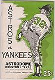 1970 Houston Astros New York Yankees Souvenir Program