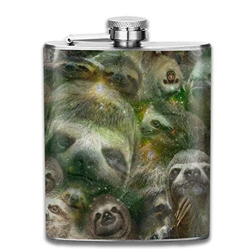 Laki-co Dream Sloth Hip Flask for Liquor Stainless Steel Bottle Alcohol -