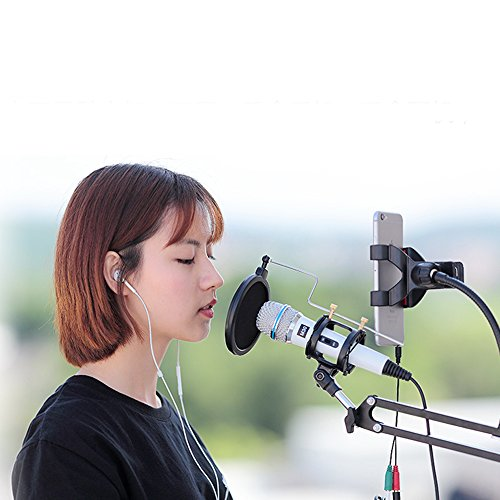 Professional Condenser Microphone Recording with Stand for PC Computer iphone Phone Android Ipad Podcasting, Online Chatting Mini Microphones by XIAOKOA (M30-White) by XIAOKOA (Image #4)