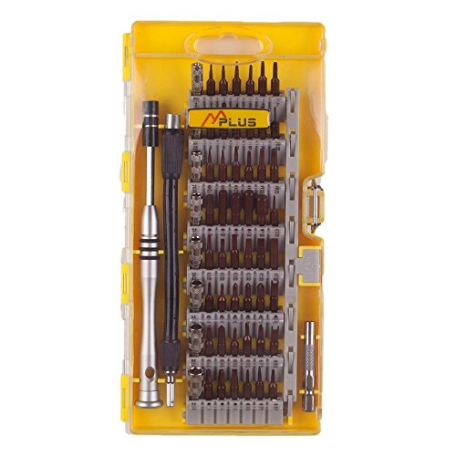 MPLUS 60 Piece Screwdriver Set with 56 Bit Magnetic Screwdriver Kit Electronics Repair Tool Kit for iPhone, Tablet, MacBook, Xbox, Cell phone, PC, Game Console.