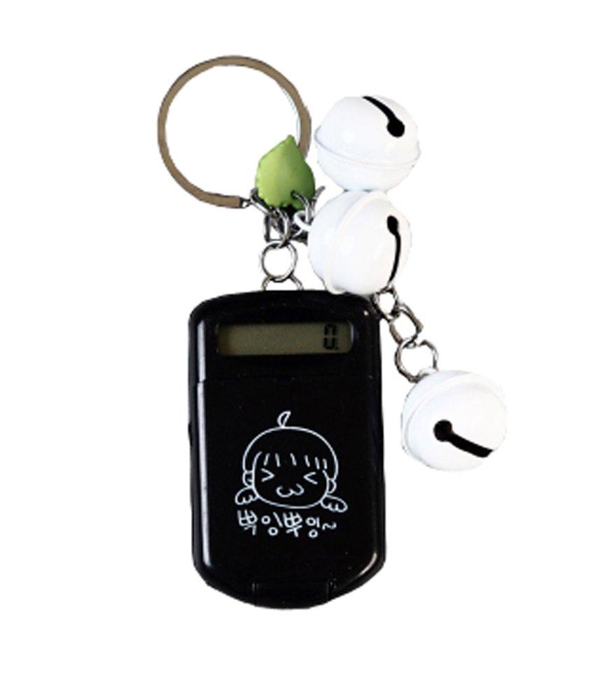 Cute Calculator Mini Portable Flip Keychain Small Computer,Black