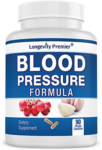 Longevity Blood Pressure Formula 90 Capsules – Scientifically formulated with Natural Herbs. Best Blood Pressure Supplement