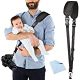 Camera Strap, Estpeak Adjustable Sling Camera Neck Shoulder Strap w/Quick Release and Safety Tether, Perfect for Canon, Fujifilm, Nikon, Sony and More DSLR, Mirrorless Cameras