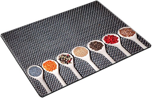 MSD Place Mat Non-Slip Natural Rubber Desk Pads design 22667606 mix of hot and colorful spices with poppy seeds pepper and mustard ()