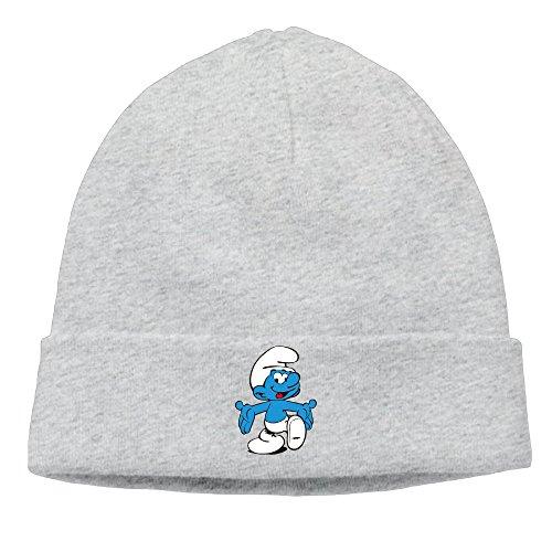 Smurfette Mushroom Image Beanie Hat Knit Hat Wool Hat (Smurfettes Mushroom)