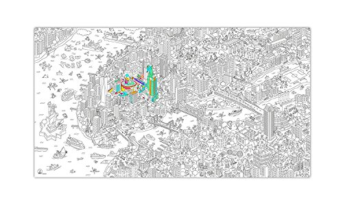 Nyc Large Poster - Coloring XXL Poster Giant Roll - New York by OMY