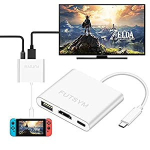 Nintendo Switch Hub HDMI Adapter 4K, FUTSYM Type-C USB C to HDMI Hub for Nintendo Switch Dock Portable Accessories Converter Cable to TV Travel Docking Station Samsung DEX Galaxy Note 8 S8 S9 Plus