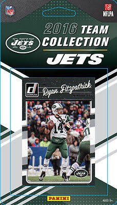2016 Donruss Football New York Jets Team Set of 11 Cards in Factory Sealed Package: Matt Forte(#208), Ryan Fitzpatrick(#209), Nick Mangold(#210), Brandon Marshall(#211), Eric Decker(#212), David Harris(#213), Muhammad Wilkerson(#214), Darrelle Revis(#215), Joe Namath(#216), Darron Lee(#311), Christian Hackenberg(#358)