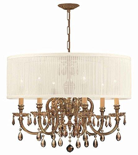 Chandeliers 6 Light With Novella Olde Cast Brass 26 inch 360 Watts - World of Lighting ()